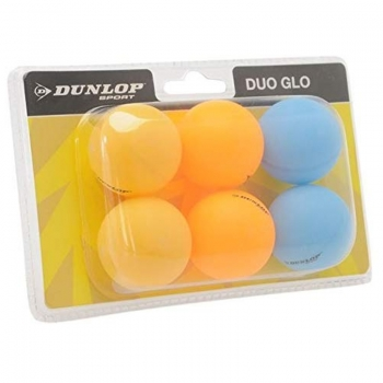 Dunlop Duo Glo Table Tennis Balls 6 Pack